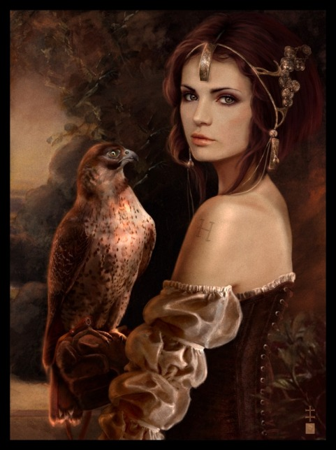 800x1069_10425__Message_2d_fantasy_hawk_falcon_girl_jewellery_princess_renaissance_portrait_picture_image_digi