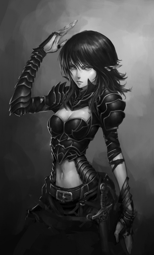 970x1600_11153_Elven_girl_warrior_sketch_2d_fantasy_girl_woman_warrior_picture_image_digital_art
